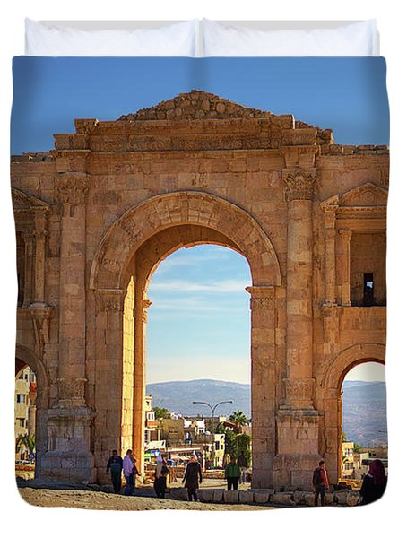 The Arch Of Hadrian Duvet Cover
