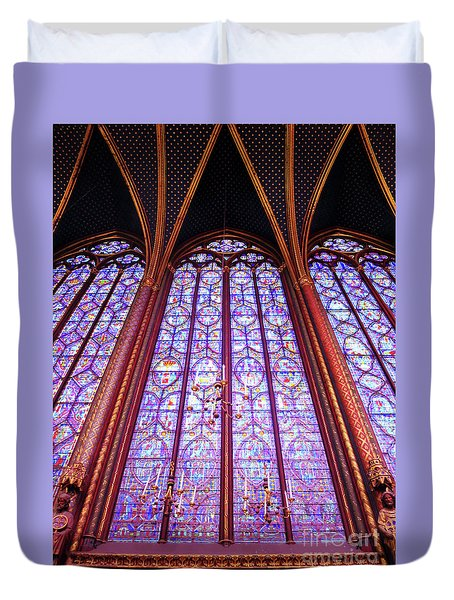 The Awe Of Sainte Chappelle Duvet Cover