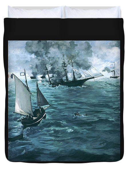 The Battle Of The Uss Kearsarge And The Css Alabama - Digital Remastered Edition Duvet Cover