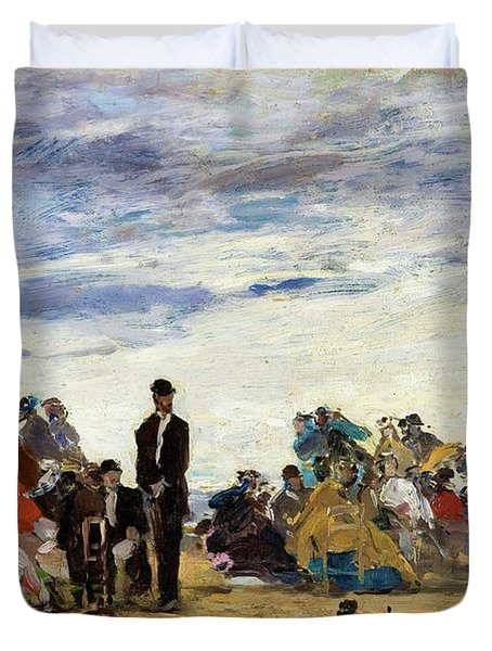 The Beach At Trouville - Digital Remastered Edition Duvet Cover