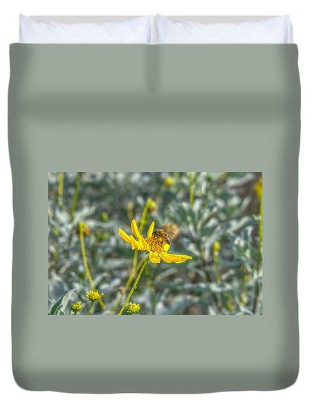 The Bee The Flower Duvet Cover