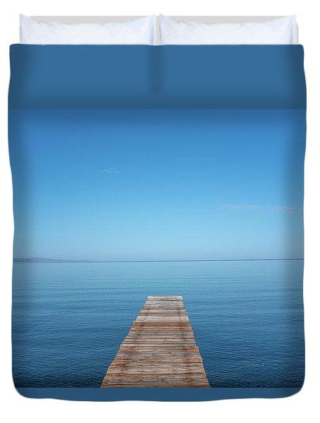The Big Deep Blue Duvet Cover
