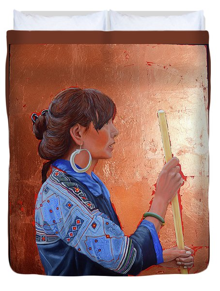 The Black Hmong Princess Duvet Cover