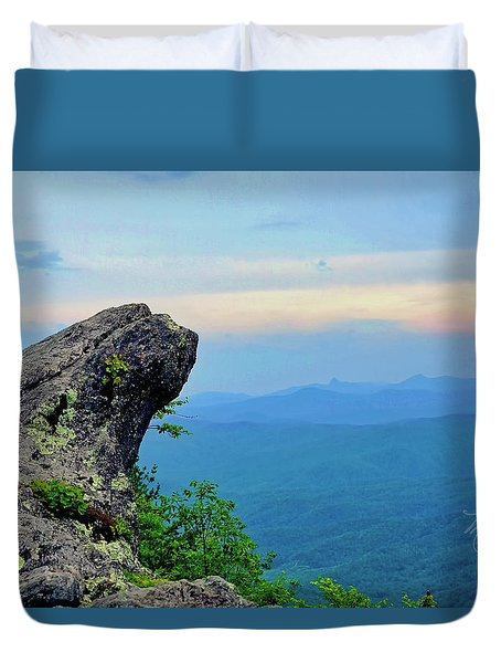 The Blowing Rock Duvet Cover