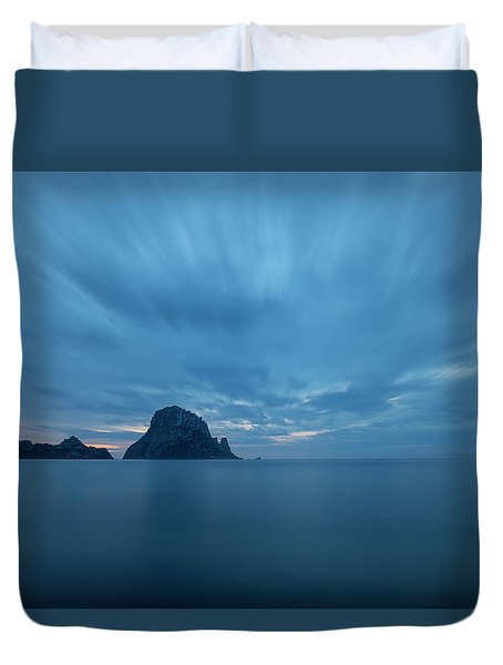 The Blue Hour In Es Vedra, Ibiza Duvet Cover
