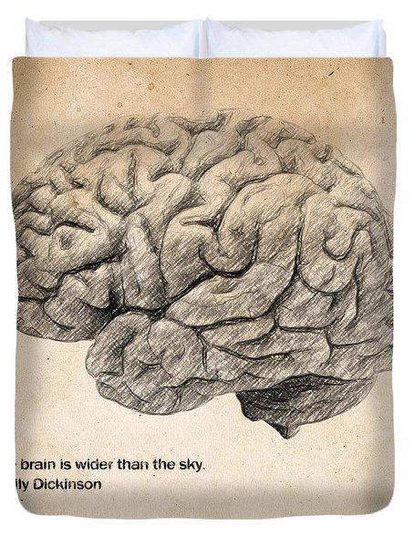The Brain Is Wider Than The Sky Duvet Cover