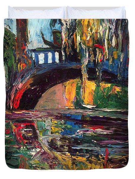 The Bridge At City Park New Orleans Duvet Cover