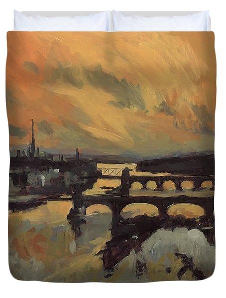 The Bridges Of Maastricht Duvet Cover