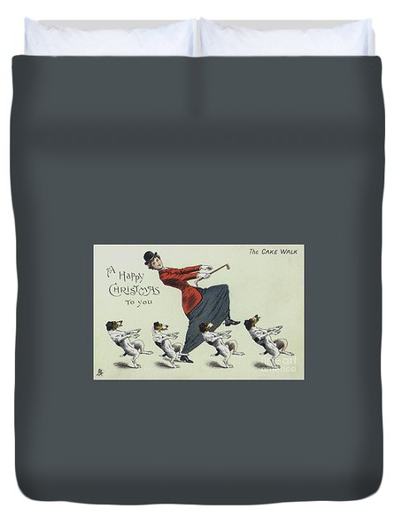 The Cake Walk, With Dogs Duvet Cover