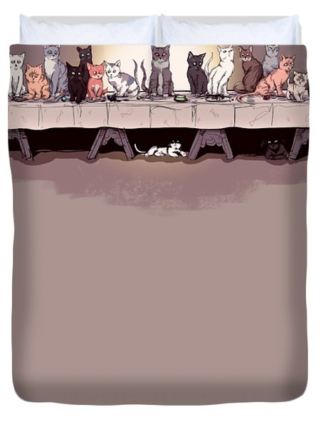 The Cat Supper Duvet Cover