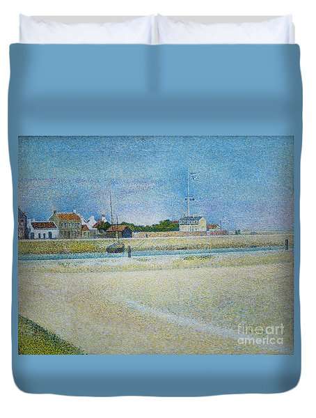 The Channel Of Gravelines Grand Fort Philippe Duvet Cover