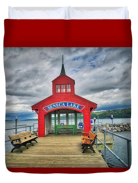 Duvet Cover featuring the photograph The Charm Of Seneca Lake - Finger Lakes, New York by Lynn Bauer
