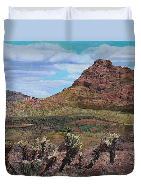The Cholla At Mount Mcdowell, Arizona Duvet Cover