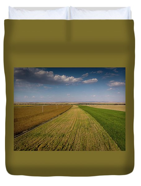 The Colored Fields Duvet Cover