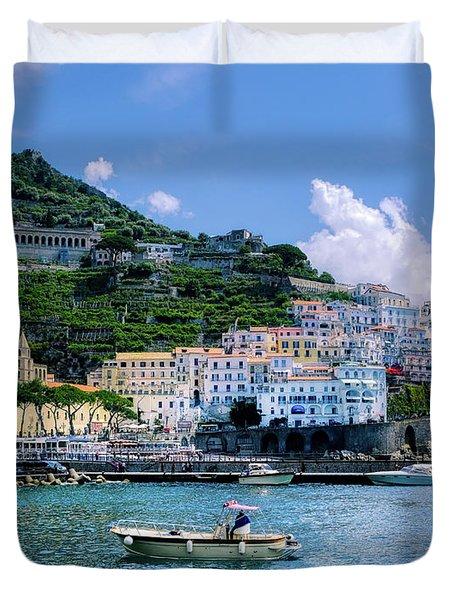 The Colorful Amalfi Coast  Duvet Cover