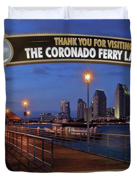 The Coronado Ferry Landing Duvet Cover