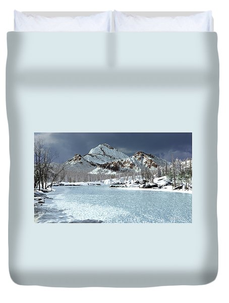 The Courtship Of Ice Duvet Cover
