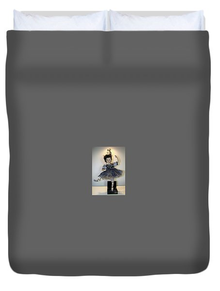 The Dark Ballerina Duvet Cover