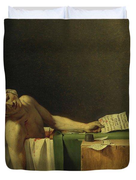 The Death Of Marat, 1793 Duvet Cover