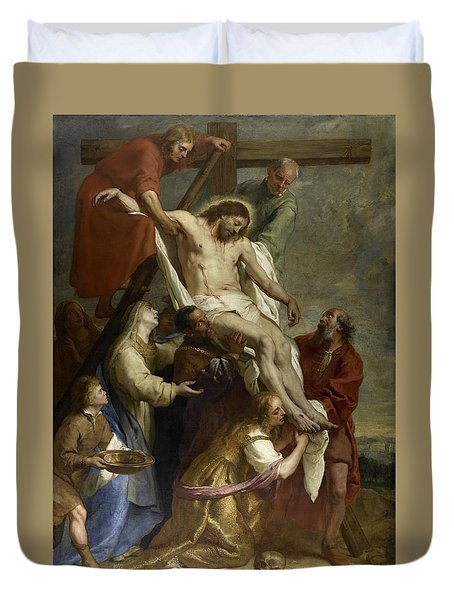 The Descent From The Cross Duvet Cover
