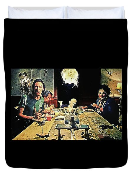 The Dinner Scene - Texas Chainsaw Duvet Cover
