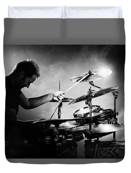 The Drummer Duvet Cover