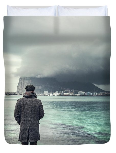 The Edge Of Europe Duvet Cover