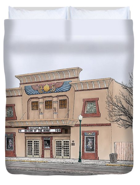 The Egyptian Theatre Duvet Cover