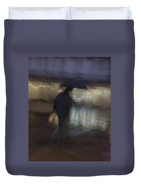 Duvet Cover featuring the photograph The End Of A Long Day by Alex Lapidus