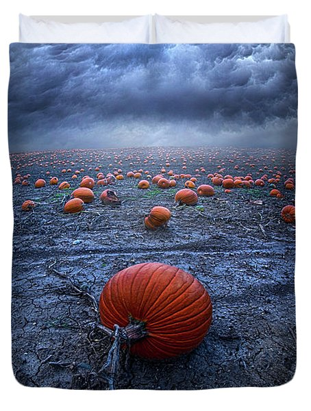 Duvet Cover featuring the photograph The End Was Left Behind by Phil Koch