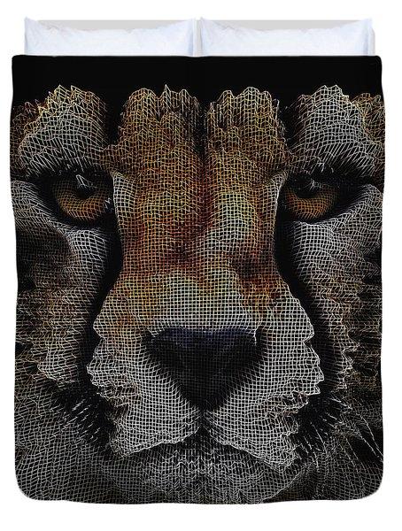 The Face Of A Cheetah Duvet Cover