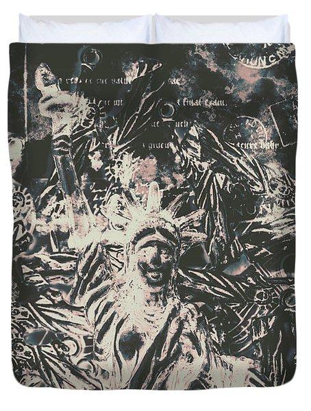 The Fall Of False Idols Duvet Cover