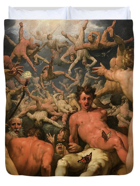 The Fall Of The Titans, 1588 Duvet Cover