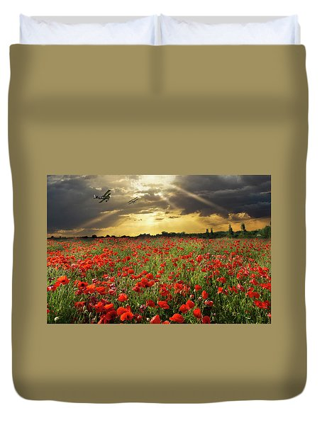 Duvet Cover featuring the photograph The Final Sortie Wwi Version by Gary Eason