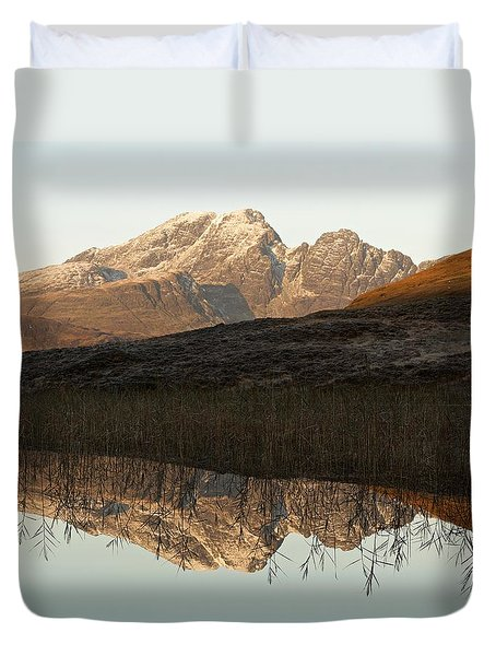 Duvet Cover featuring the photograph The First Hint Of Winter At Loch Cill Chriosd by Stephen Taylor