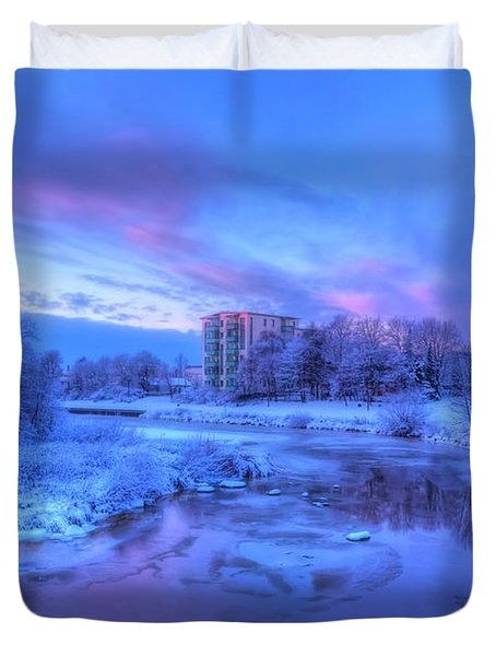 The First Snow Duvet Cover