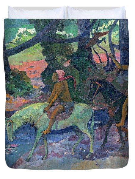 The Flight, 1901 Duvet Cover