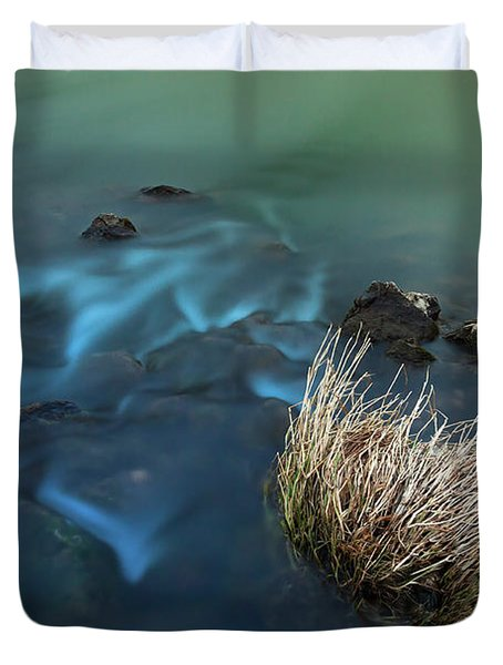 The Flow Of Time Duvet Cover