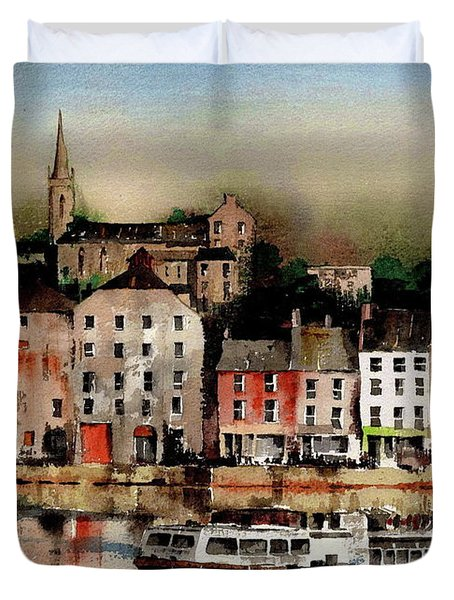 The Galley Off New Ross, Wexford Duvet Cover