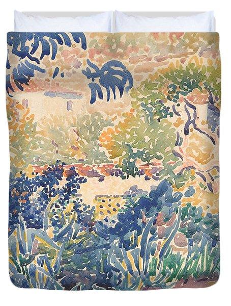 The Garden Of The Artist At Saint Clair Duvet Cover