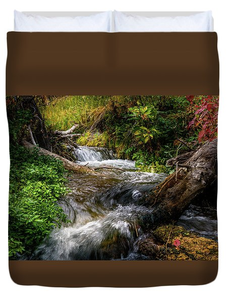 Duvet Cover featuring the photograph The Giving Stream by TL Mair