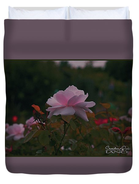 The Glowing Rose Duvet Cover