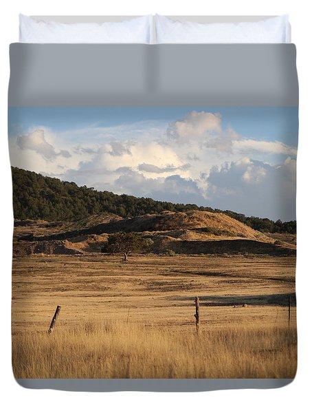 The Golden Hour In Utah Duvet Cover