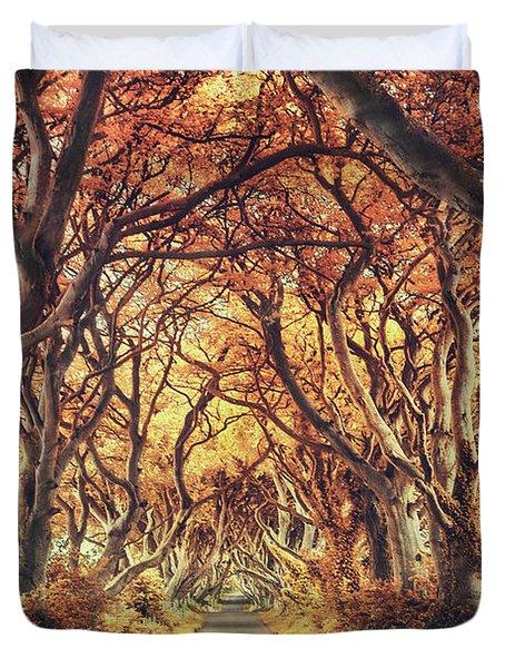 The Golden Path Duvet Cover