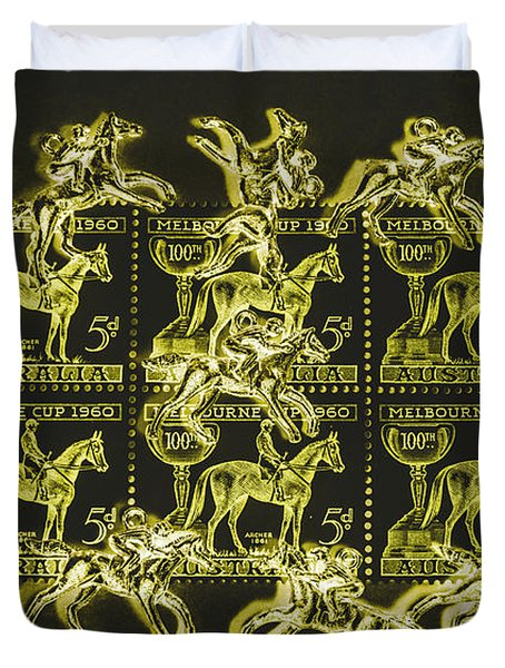 The Golden Race Duvet Cover
