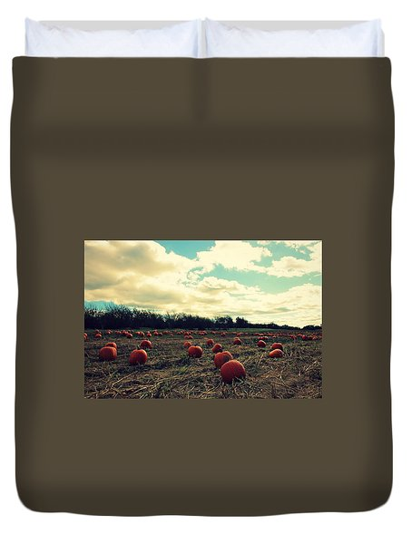 Duvet Cover featuring the photograph The Great Pumpkin by Candice Trimble
