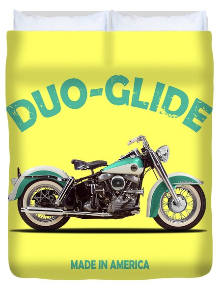 The Harley Duo-glide 1958 Duvet Cover