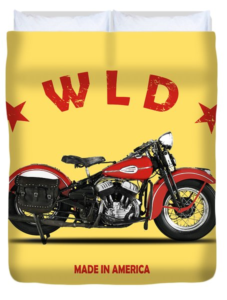 The Harley Wld Motorcycle 1941 Duvet Cover