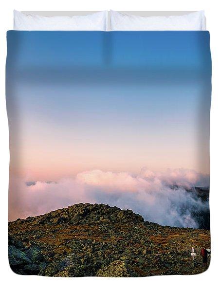 The Hiker - Mt Jefferson, Nh Duvet Cover