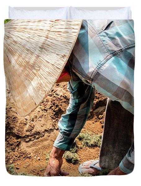 The Hoi An Organic Farmer, Vietnam  Duvet Cover